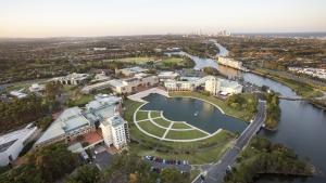 Aerial view of Bond University campus
